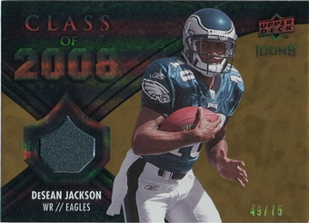 2008 Upper Deck Icons Class of 2008 Jersey Gold #CO2 DeSean Jackson /75