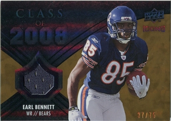 2008 Upper Deck Icons Class of 2008 Jersey Gold #CO11 Earl Bennett /75