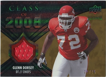 2008 Upper Deck Icons Class of 2008 Jersey Gold #CO13 Glenn Dorsey /75