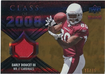 2008 Upper Deck Icons Class of 2008 Jersey Gold #CO14 Early Doucet /75