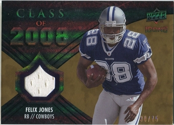 2008 Upper Deck Icons Class of 2008 Jersey Gold #CO16 Felix Jones /75