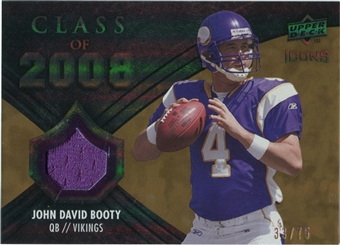 2008 Upper Deck Icons Class of 2008 Jersey Gold #CO20 John David Booty /75