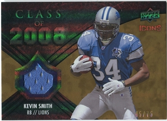 2008 Upper Deck Icons Class of 2008 Jersey Gold #CO23 Kevin Smith /75