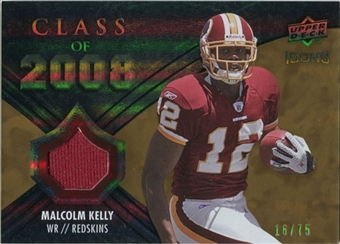2008 Upper Deck Icons Class of 2008 Jersey Gold #CO26 Malcolm Kelly /75