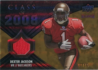 2008 Upper Deck Icons Class of 2008 Jersey Gold #CO30 Dexter Jackson /75