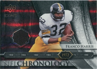 2008 Upper Deck Icons NFL Chronology Jersey Silver #CHR5 Franco Harris /150
