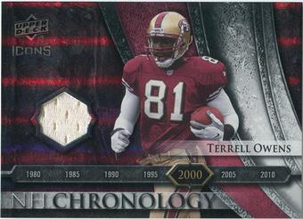 2008 Upper Deck Icons NFL Chronology Jersey Silver #CHR26 Terrell Owens /150
