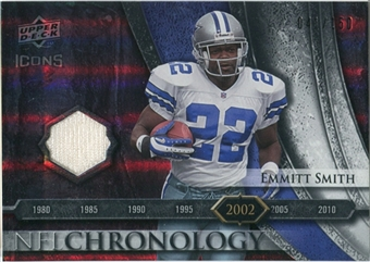 2008 Upper Deck Icons NFL Chronology Jersey Silver #CHR28 Emmitt Smith /150