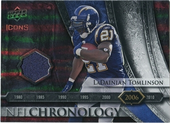 2008 Upper Deck Icons NFL Chronology Jersey Silver #CHR35 LaDainian Tomlinson /150