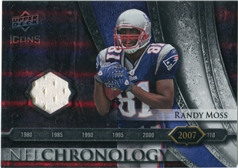 2008 Upper Deck Icons NFL Chronology Jersey Silver #CHR40 Randy Moss /150