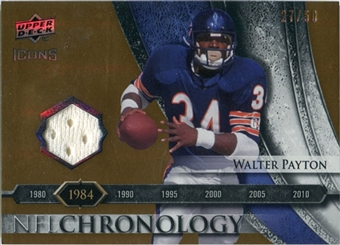 2008 Upper Deck Icons NFL Chronology Jersey Gold #CHR13 Walter Payton /50
