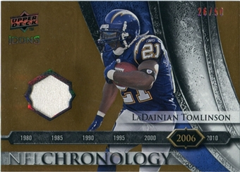 2008 Upper Deck Icons NFL Chronology Jersey Gold #CHR35 LaDainian Tomlinson /50