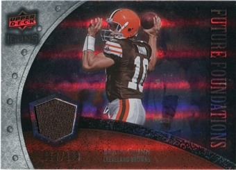 2008 Upper Deck Icons Future Foundations Jersey Silver #FF5 Brady Quinn /199