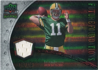2008 Upper Deck Icons Future Foundations Jersey Silver #FF6 Brian Brohm /199