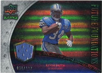 2008 Upper Deck Icons Future Foundations Jersey Silver #FF19 Kevin Smith /199