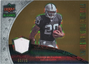 2008 Upper Deck Icons Future Foundations Jersey Gold #FF10 Darren McFadden /75