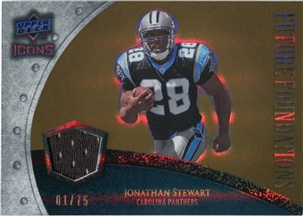 2008 Upper Deck Icons Future Foundations Jersey Gold #FF17 Jonathan Stewart /75