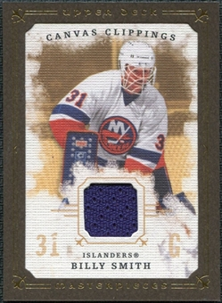 2008/09 Upper Deck UD Masterpieces Canvas Clippings Brown #CCBS Billy Smith