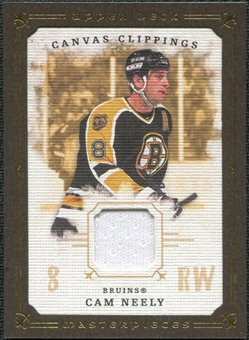 2008/09 Upper Deck UD Masterpieces Canvas Clippings Brown #CCCN Cam Neely