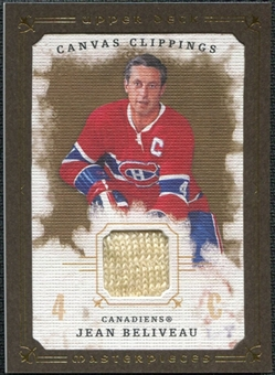 2008/09 Upper Deck UD Masterpieces Canvas Clippings Brown #CCJB Jean Beliveau
