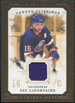 2008/09 Upper Deck UD Masterpieces Canvas Clippings Brown #CCPL Pat LaFontaine