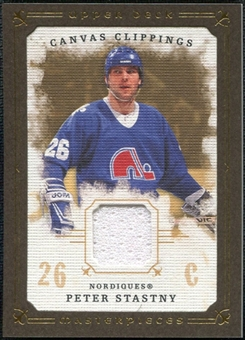 2008/09 Upper Deck UD Masterpieces Canvas Clippings Brown #CCPS Peter Stastny