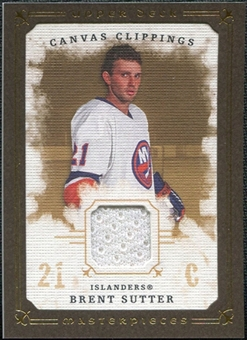 2008/09 Upper Deck UD Masterpieces Canvas Clippings Brown #CCSU Brent Sutter