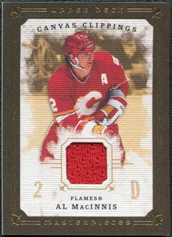 2008/09 Upper Deck UD Masterpieces Canvas Clippings Brown #CCAM1 Al MacInnis