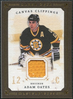 2008/09 Upper Deck UD Masterpieces Canvas Clippings Brown #CCAO2 Adam Oates