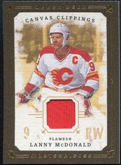 2008/09 Upper Deck UD Masterpieces Canvas Clippings Brown #CCLM2 Lanny McDonald