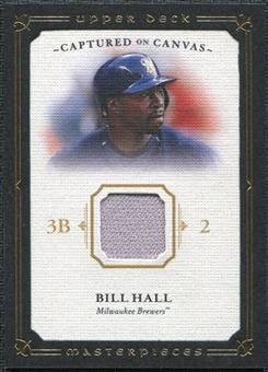 2008 Upper Deck UD Masterpieces Captured on Canvas #BH Bill Hall