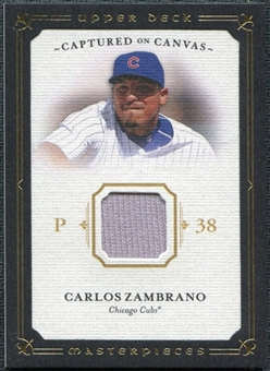 2008 Upper Deck UD Masterpieces Captured on Canvas #CZ Carlos Zambrano