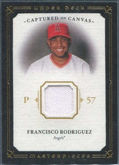 2008 Upper Deck UD Masterpieces Captured on Canvas #FR Francisco Rodriguez