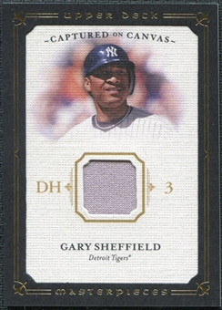 2008 Upper Deck UD Masterpieces Captured on Canvas #GS Gary Sheffield