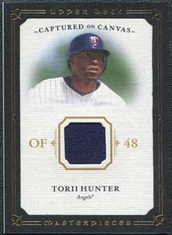 2008 Upper Deck UD Masterpieces Captured on Canvas #HU Torii Hunter