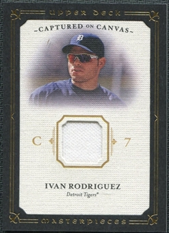 2008 Upper Deck UD Masterpieces Captured on Canvas #IR Ivan Rodriguez