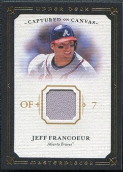 2008 Upper Deck UD Masterpieces Captured on Canvas #JF Jeff Francoeur