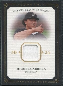 2008 Upper Deck UD Masterpieces Captured on Canvas #MC Miguel Cabrera