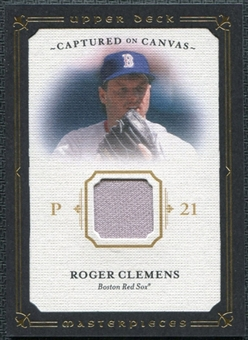 2008 Upper Deck UD Masterpieces Captured on Canvas #RC Roger Clemens