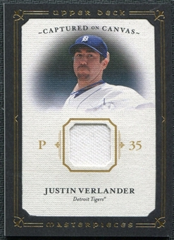2008 Upper Deck UD Masterpieces Captured on Canvas #VE Justin Verlander