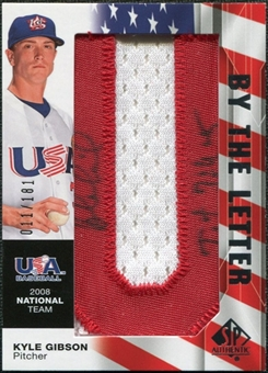 2008 Upper Deck SP Authentic USA National Team By the Letter Autographs #KG Kyle Gibson /181