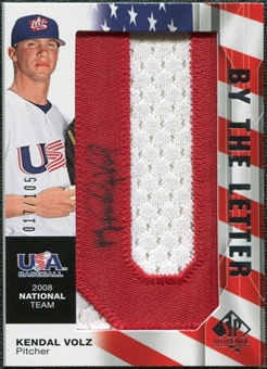 2008 Upper Deck SP Authentic USA National Team By the Letter Autographs #KV Kendal Volz /105