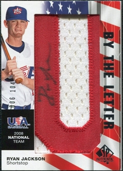 2008 Upper Deck SP Authentic USA National Team By the Letter Autographs #RJ Ryan Jackson /104