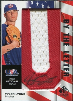 2008 Upper Deck SP Authentic USA National Team By the Letter Autographs #TL Tyler Lyons /104