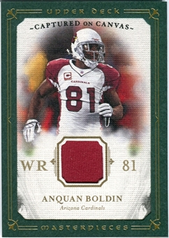 2008 Upper Deck UD Masterpieces Captured on Canvas Jerseys #CC3 Anquan Boldin