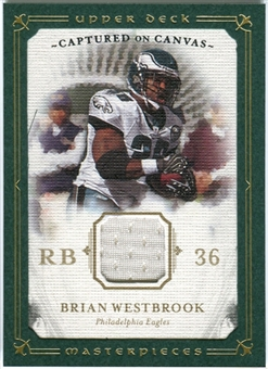 2008 Upper Deck UD Masterpieces Captured on Canvas Jerseys #CC5 Brian Westbrook
