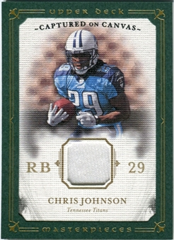 2008 Upper Deck UD Masterpieces Captured on Canvas Jerseys #CC10 Chris Johnson