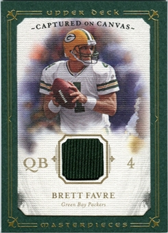 2008 Upper Deck UD Masterpieces Captured on Canvas Jerseys #CC11 Brett Favre