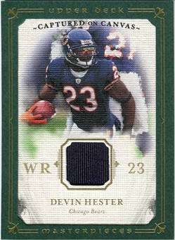 2008 Upper Deck UD Masterpieces Captured on Canvas Jerseys #CC19 Devin Hester