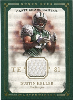 2008 Upper Deck UD Masterpieces Captured on Canvas Jerseys #CC25 Dustin Keller
